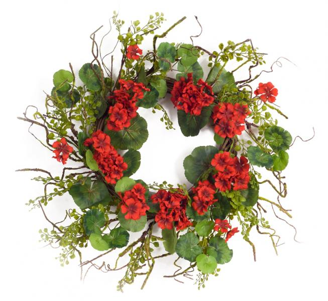 "Geranium Wreath - 20""D - Bloom'n Things (4559514632273)"