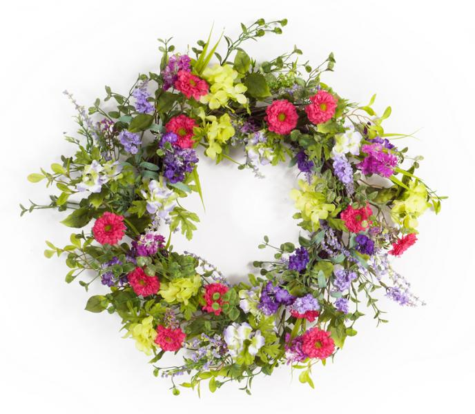 "Mixed Floral Wreath - 24""D - Bloom'n Things (4559526035537)"