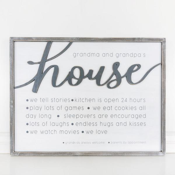 """Grandma and Grandpa's House...... Reversible Sign - Bloom'n Things (4560301195345)"