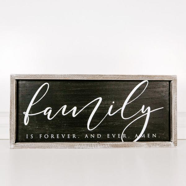 """Family is forever......"" Wood Framed Sign - Bloom'n Things"