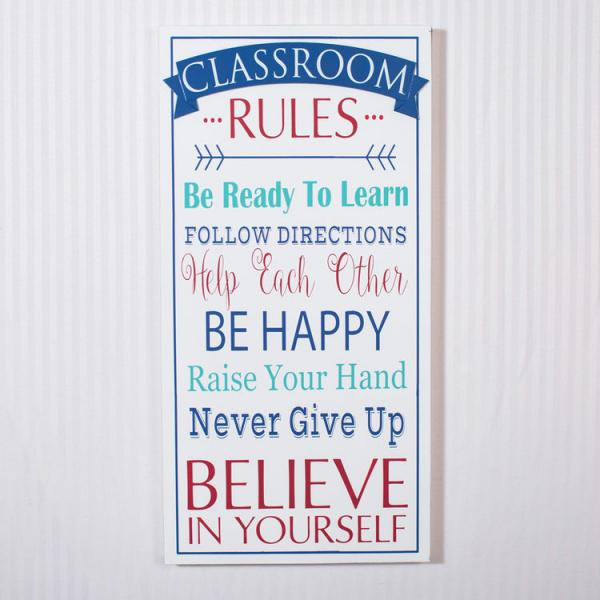 Classroom Rules - Wood Sign - Bloom'n Things