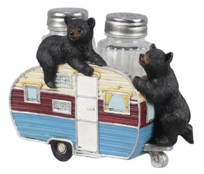 Bear Camper Salt & Pepper Shakers - Set of (3) - Bloom'n Things (5966745043128)