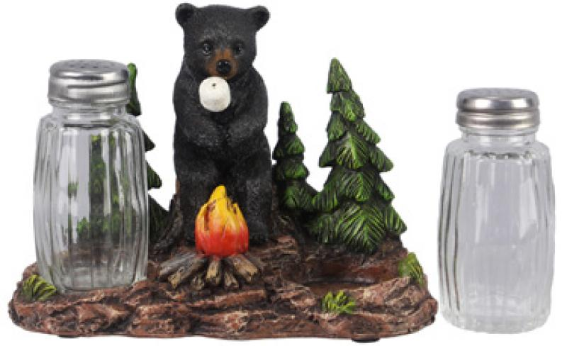 Bear Roasting Marshmallows Salt & Pepper Shakers - Set of (3) Pieces - Bloom'n Things (5966745010360)