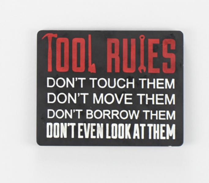 Wood Tool Rules Sign - Bloom'n Things, LLC