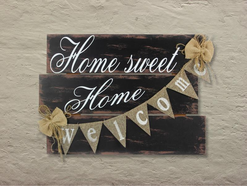 """Home Sweet Home"" Welcome Sign - Bloom'n Things (1360177234001)"