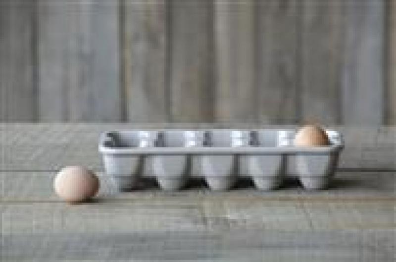 Grey Ceramic Egg Holder - Bloom'n Things, LLC