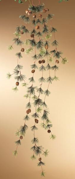 Pine with Acorn Garland - 5' - Bloom'n Things, LLC