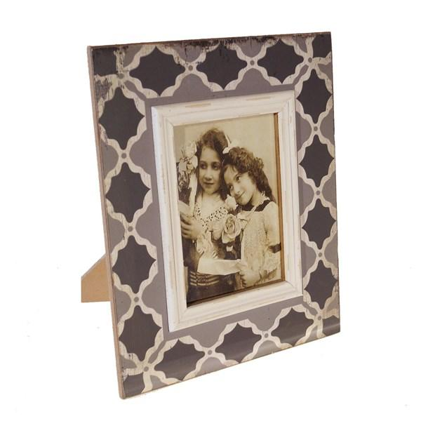 Gray and Black Wooden Picture Frame (5X7 Picture) - Bloom'n Things
