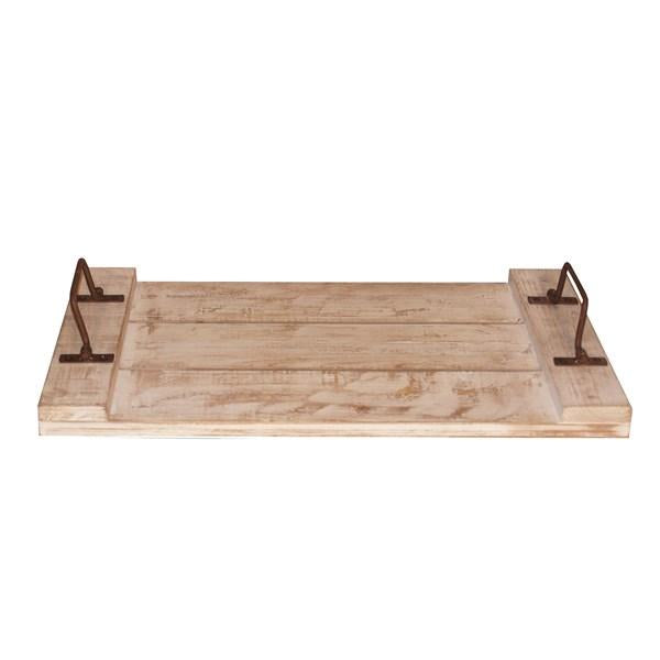 Wood Tray with Handles - Bloom'n Things, LLC