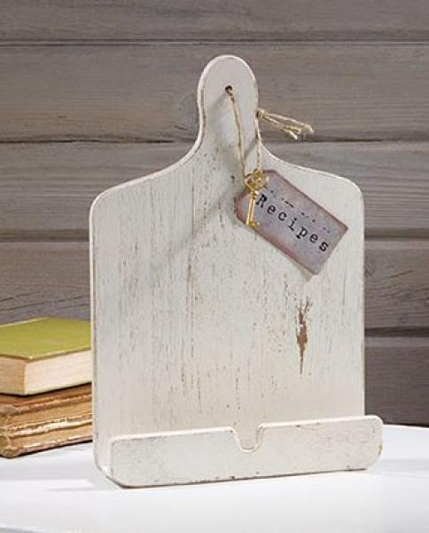 Charming Tablet Holder Or Recipe Holder   Distressed White
