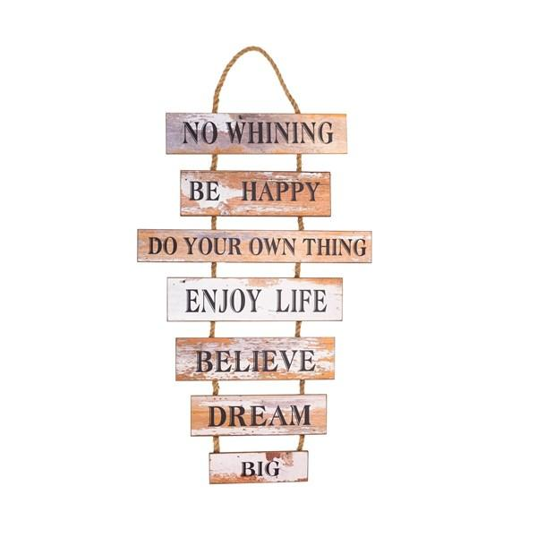 Distressed Wood Inspirational Sign - Bloom'n Things (10403641289)