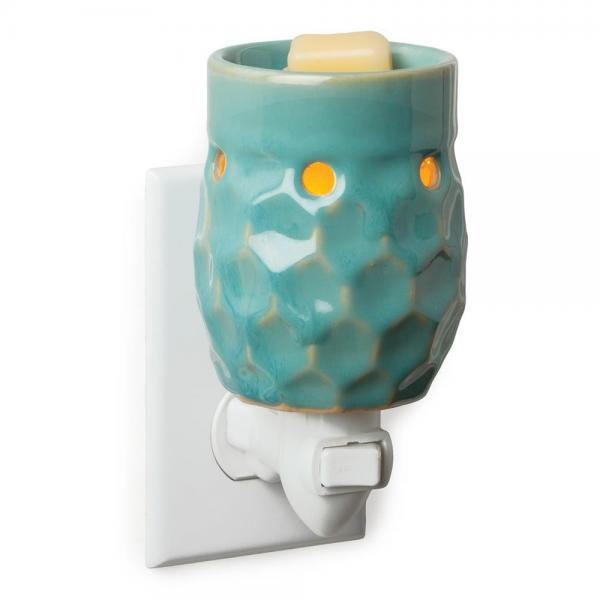 Honey Comb Turquoise Plug In Fragrance Warmer - Bloom'n Things