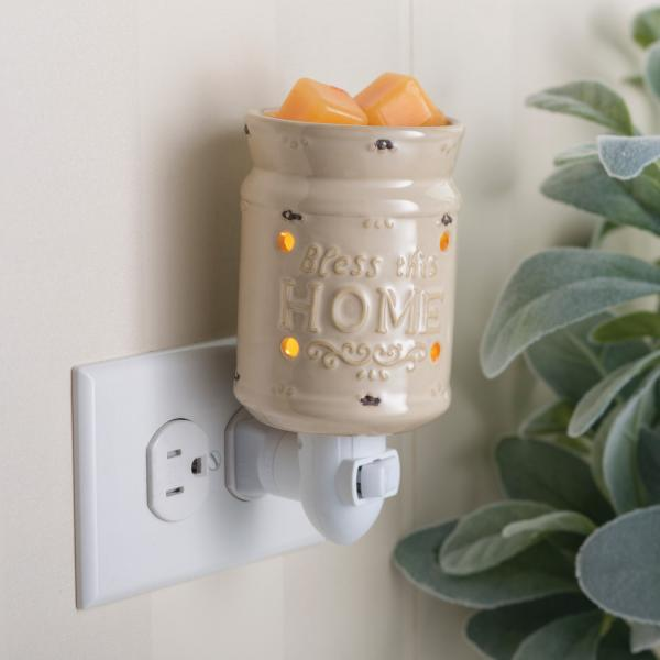"Pluggable ""Bless this Home"" Fragrance Wax Warmer - Bloom'n Things"