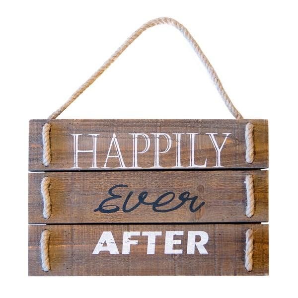 """Happily Ever After"" Pallet Sign with rope hanger - Bloom'n Things"