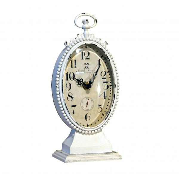 Oval Table Clock - Off White - Bloom'n Things