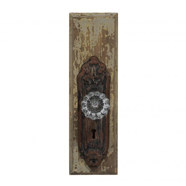 Distressed Wall Plaque with Glass Knob - Bloom'n Things (4098940567633)