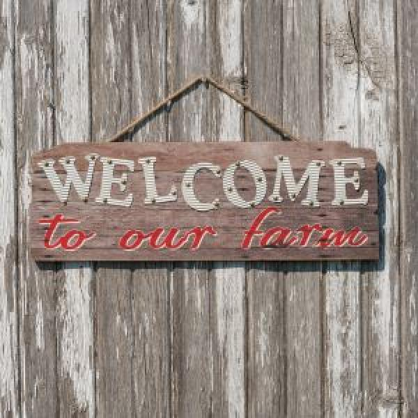 Welcome to the Farm Sign - Bloom'n Things