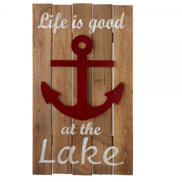 Life is Good Wall at the Lake Wood & Metal Wall Sign - Bloom'n Things, LLC
