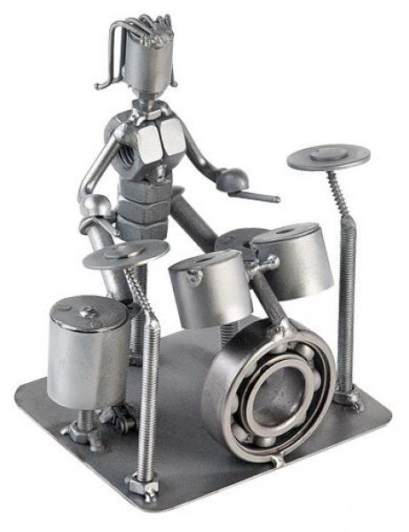 Recycled Art - Metal Rock Drummer - Bloom'n Things (1360031481937)
