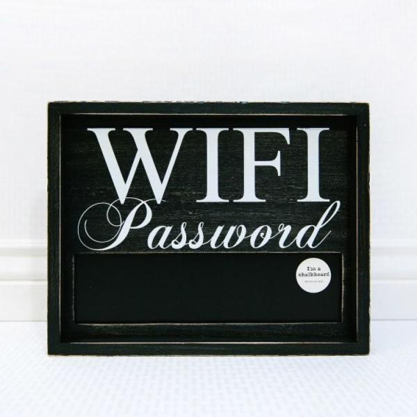 WiFi Password with Chalkboard - Black - Bloom'n Things (4550249545809)