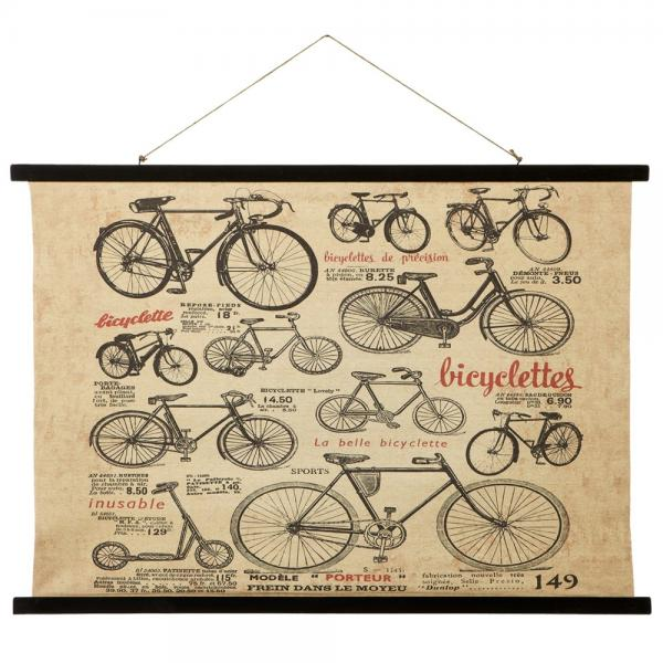Bike Canvas Wall Decor - Burlap and Wood - Bloom'n Things