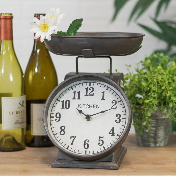 Table Clock - Scale Design - Metal - Bloom'n Things (1362339430481)