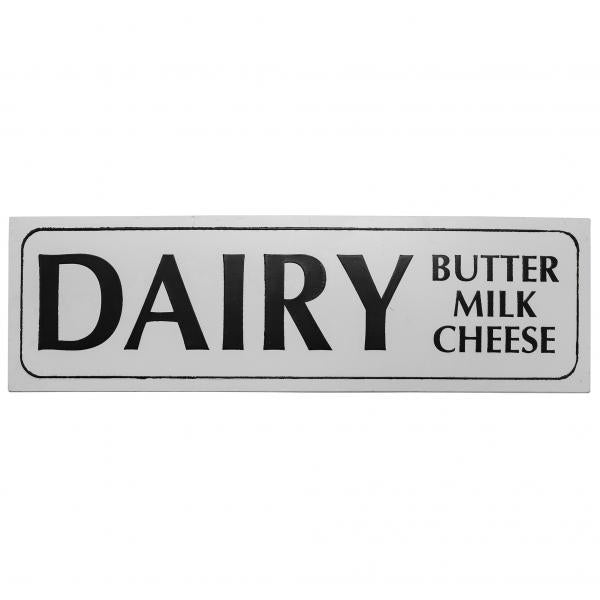 "Metal Sign ""Dairy"" - Enamel Look - Bloom'n Things (1347989995601)"