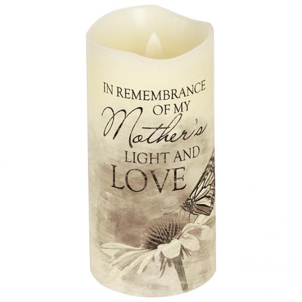 "Everlasting Glow With Premier Flicker ""Mother"" Candle - Bloom'n Things"