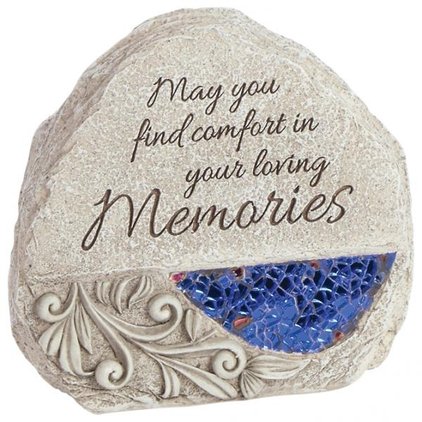 """Memories"" Comfort and Light Memorial Stone - Bloom'n Things, LLC"