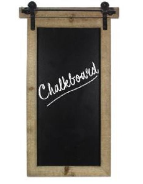 Wall Blackboard with Metal Hardware - Bloom'n Things, LLC