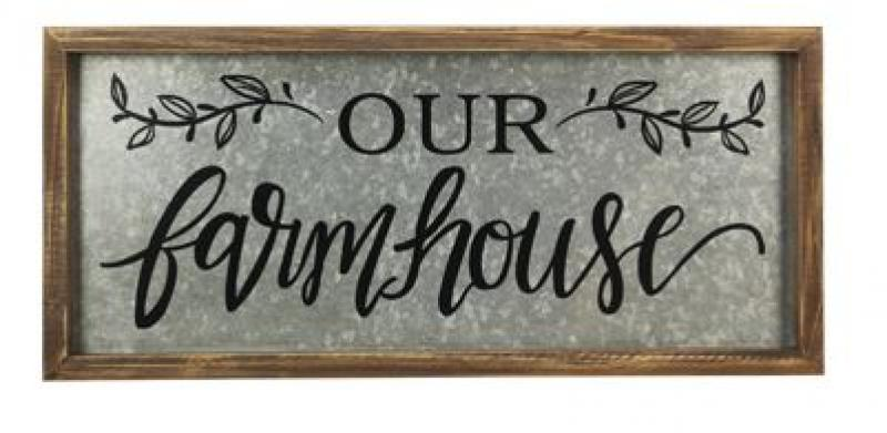 """Our Farmhouse"" Tin Sign - Bloom'n Things (1360200466513)"
