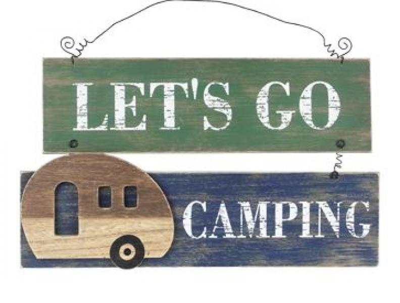 """Let's go Camping"" Sign - Bloom'n Things (1360204562513)"