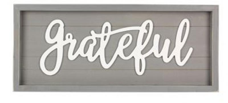 """Grateful"" Wall Art - Wood - Bloom'n Things (1360206626897)"