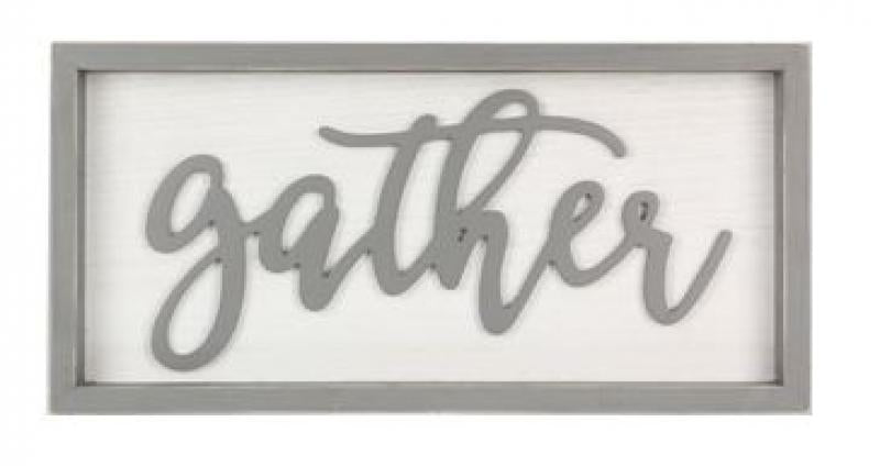 """Gather"" Box Sign - Bloom'n Things (1360206594129)"