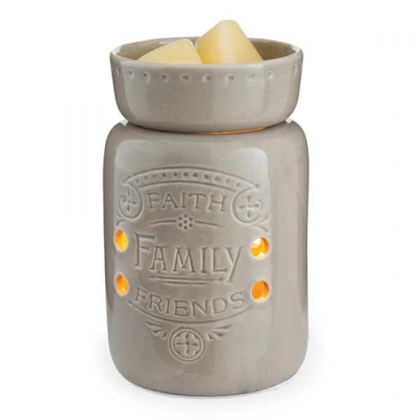 Faith, Family, Friends Midsize Illumination Wax Warmer - Bloom'n Things (1361718607953)