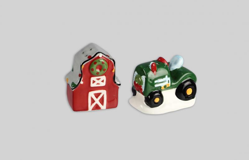 Barn/Tractor Salt & Pepper Set - Bloom'n Things, LLC