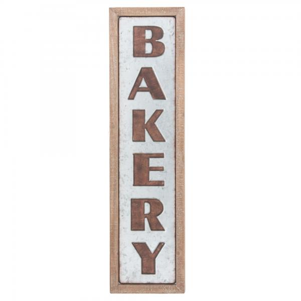 Metal Bakery Sign with Wood Frame - Bloom'n Things