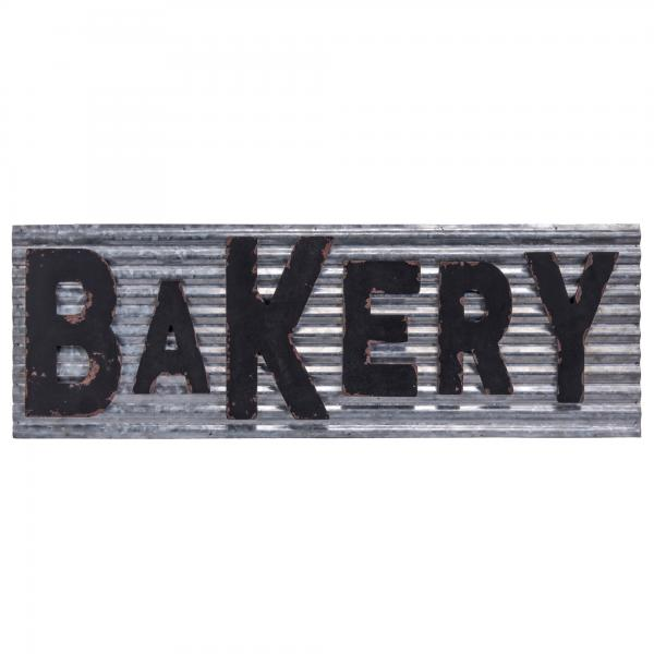 "Wood Letters on Rippled Metal ""Bakery"" Sign - Bloom'n Things (1361861541969)"