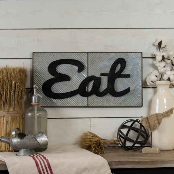 """EAT"" Sign - Metal - Bloom'n Things (1362172641361)"