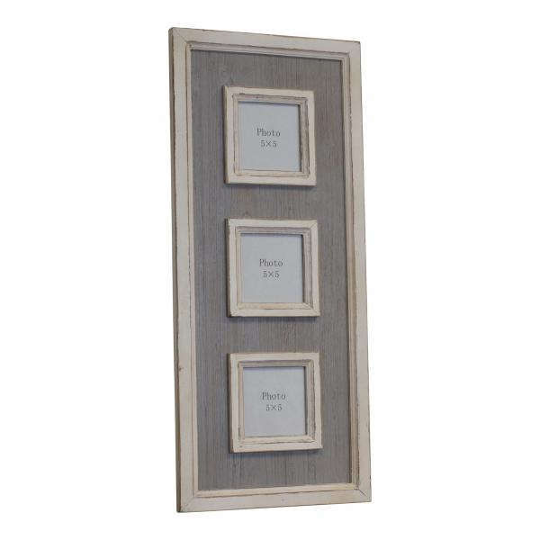 "Triple Grey with white trim -  5""x 5"" Photo Frame - Bloom'n Things"