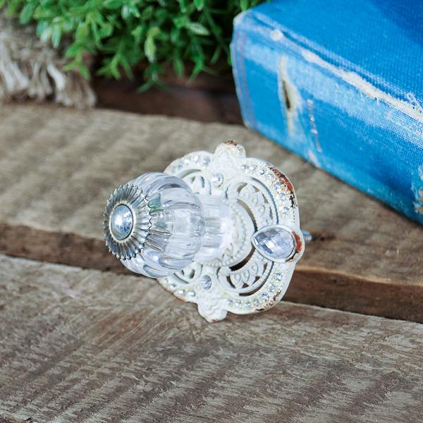 Glass Knob Hook - with metal base - Bloom'n Things (1362336383057)