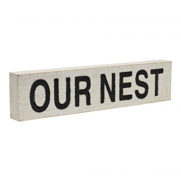 """Our Nest"" Wood Sign - Bloom'n Things (1362390188113)"