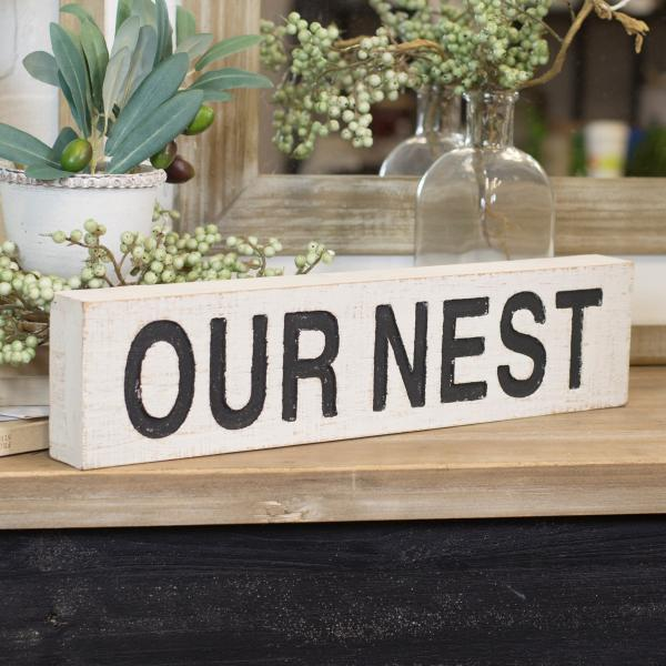 """Our Nest"" Wood Sign - Bloom'n Things, LLC"