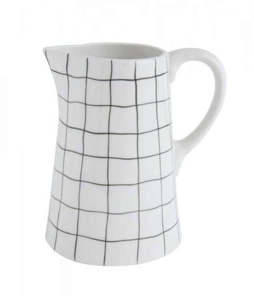 White with Black Grid Pitcher - Bloom'n Things (1364151074897)