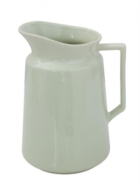 Stoneware Mint Pitcher