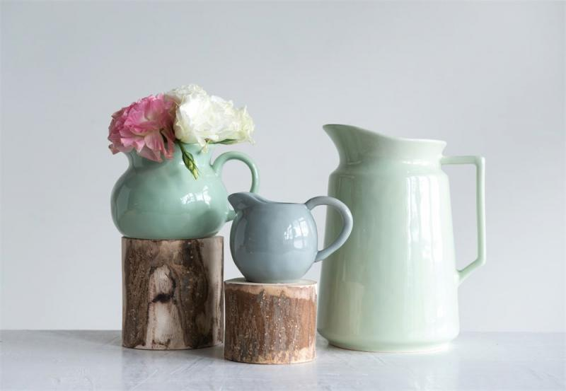 Grey Stoneware Pitcher - Bloom'n Things