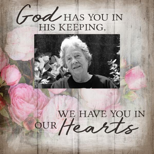"""God has you in his keeping"" Picture Frame - Bloom'n Things"