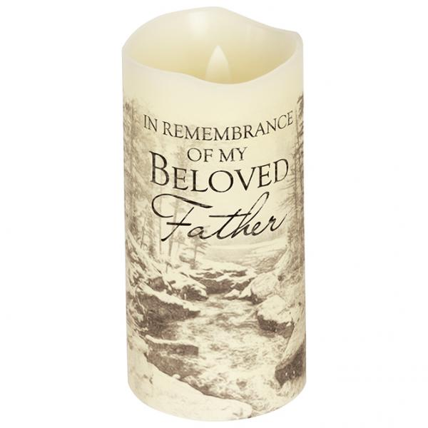 "Premier Candle - ""Beloved Father"" - Bloom'n Things, LLC"