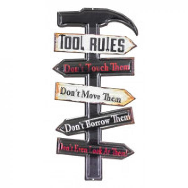 Tool Rules Hammer Sign - Bloom'n Things, LLC