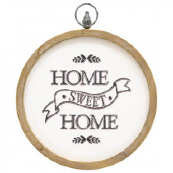 Home Sweet Home Round Wall Plaque - Bloom'n Things (3027113443409)